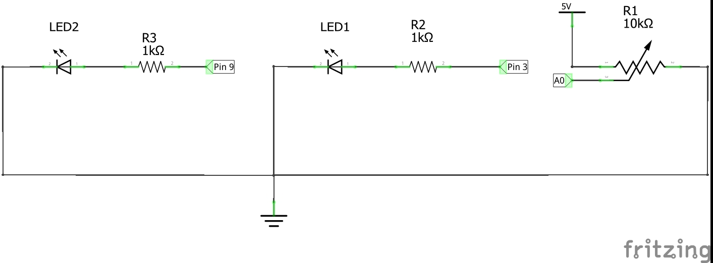 Workingwithpotentiometerandtwoleds circuit 2ielsbwdr6