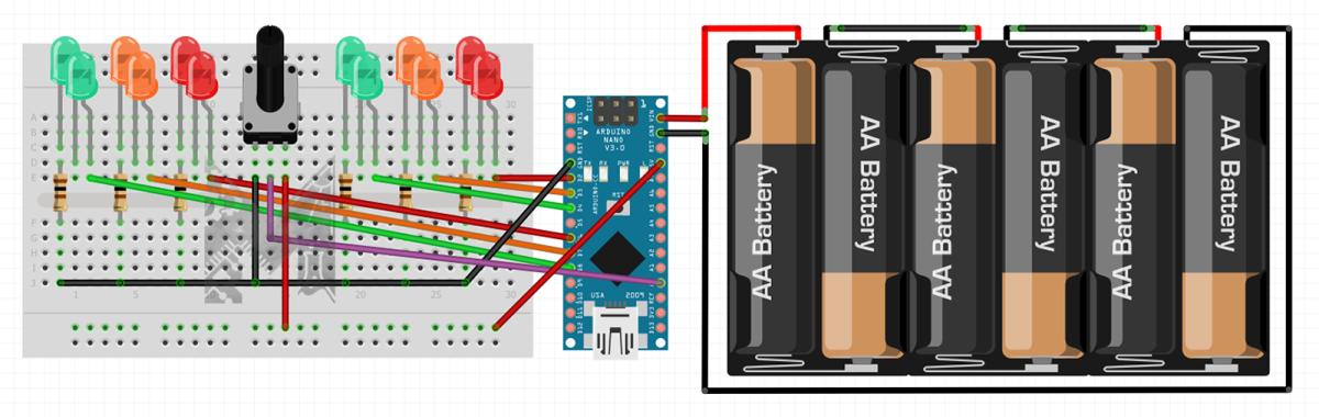 445 breadboard layout fritzing for adjustable traffic lights original svycn175gj