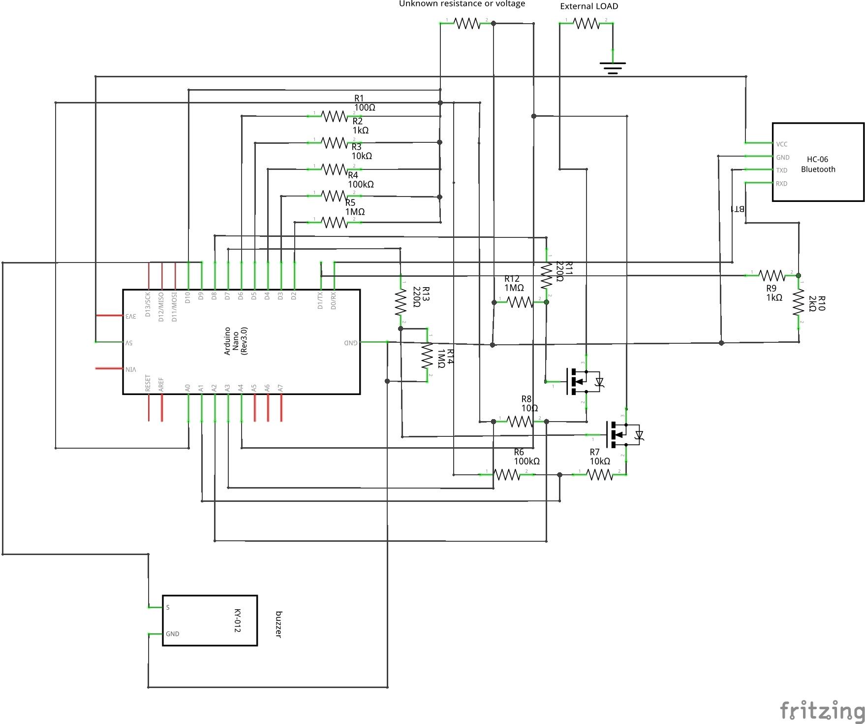 Digital multimeter sketch schem srqf6wygeo