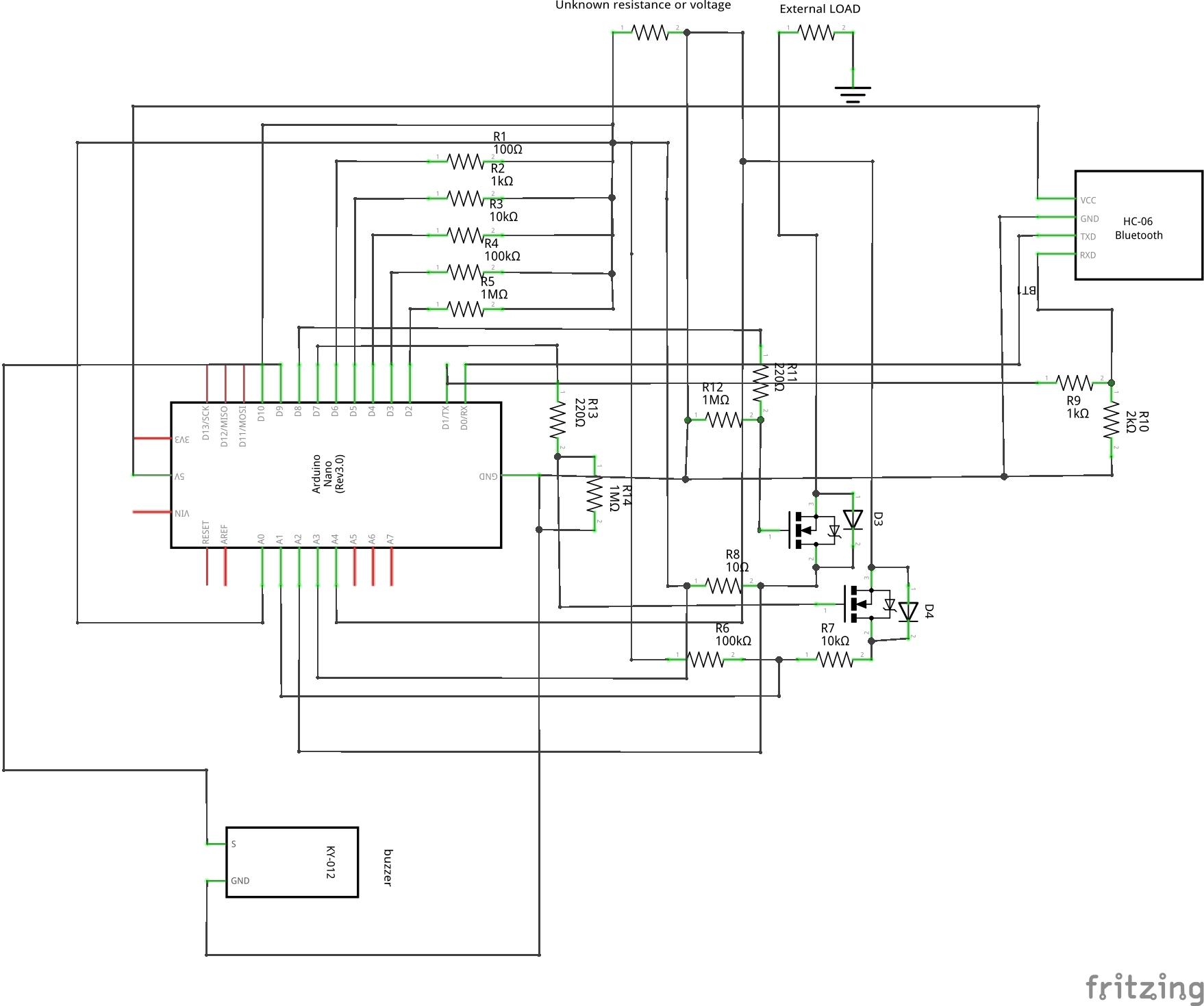 Digital multimeter sketch variantecon diodi schem ahvhlydxek