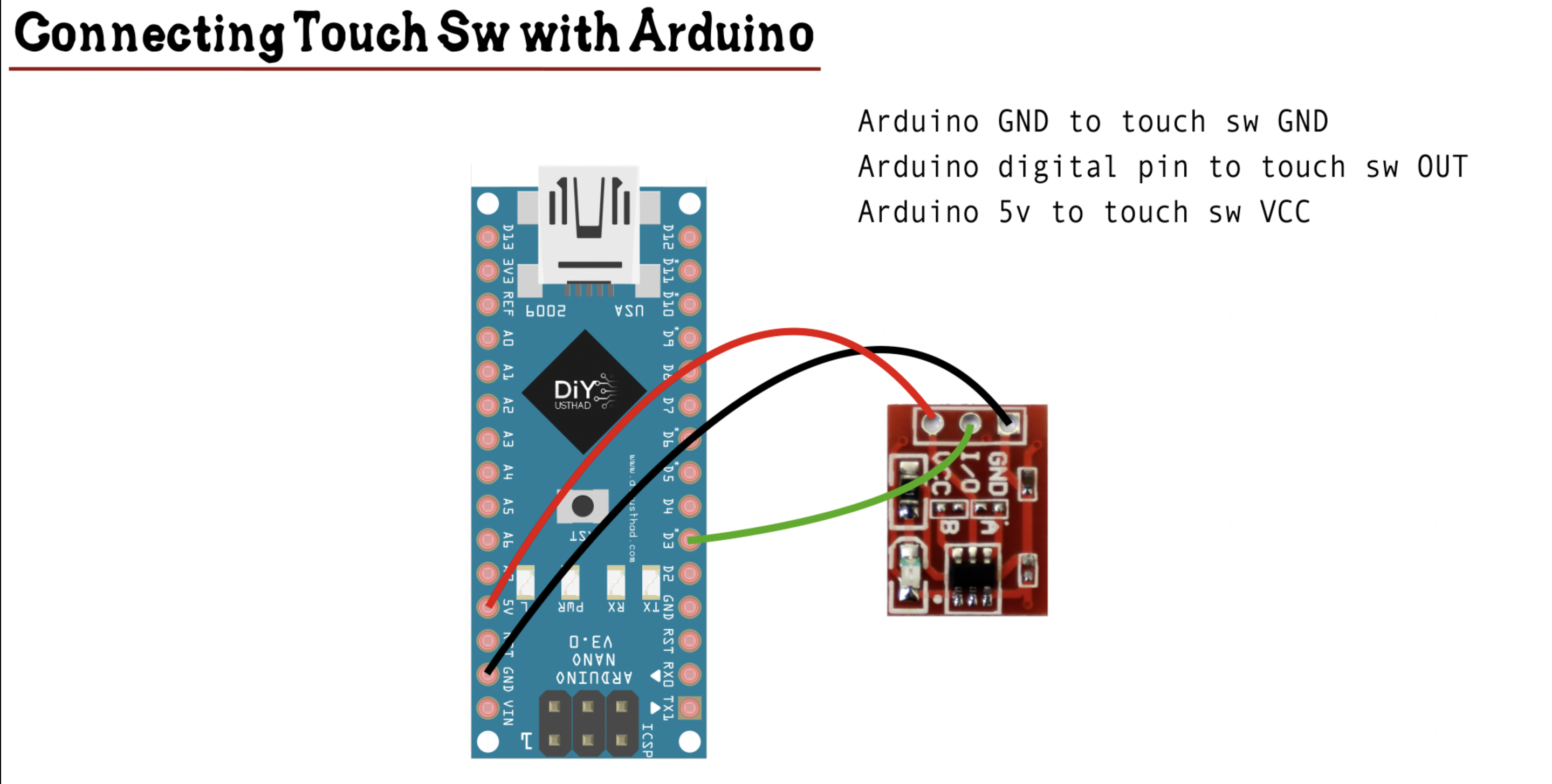 Touch sw with arduino lrvqoq99dh