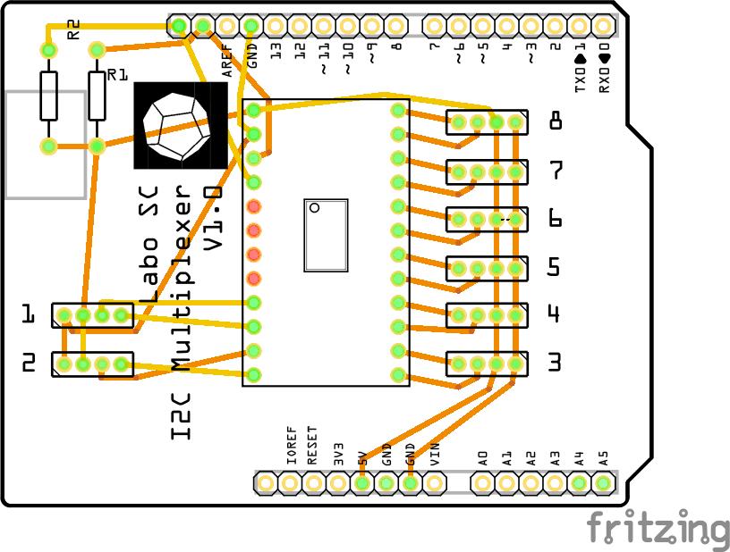Multiplexer shield r9lbr9mauc