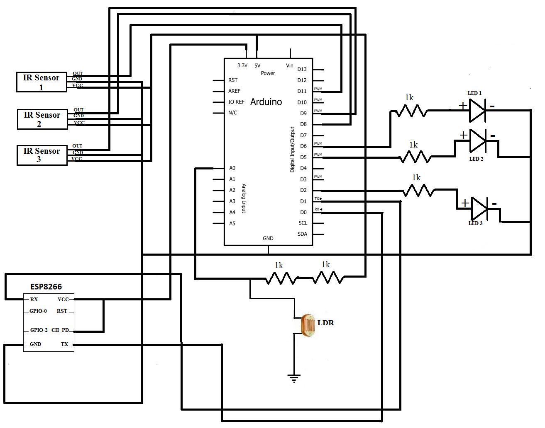 Iot Based Smart Street Light System Arduino Project Hub