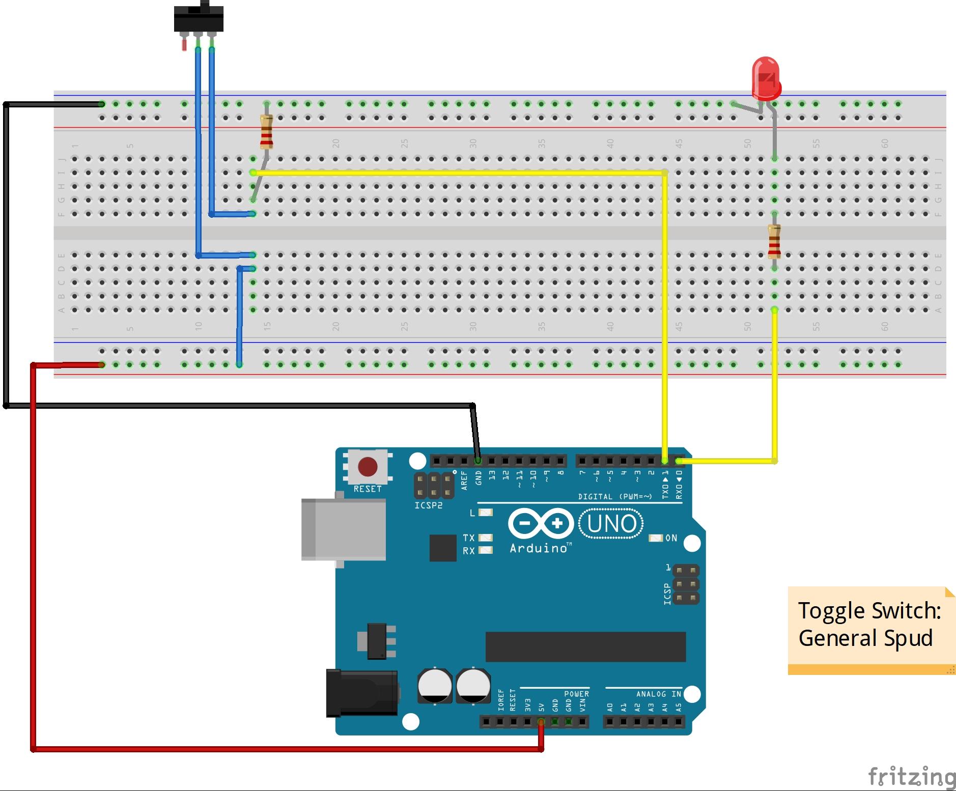 Toggle Switch Arduino Project Hub