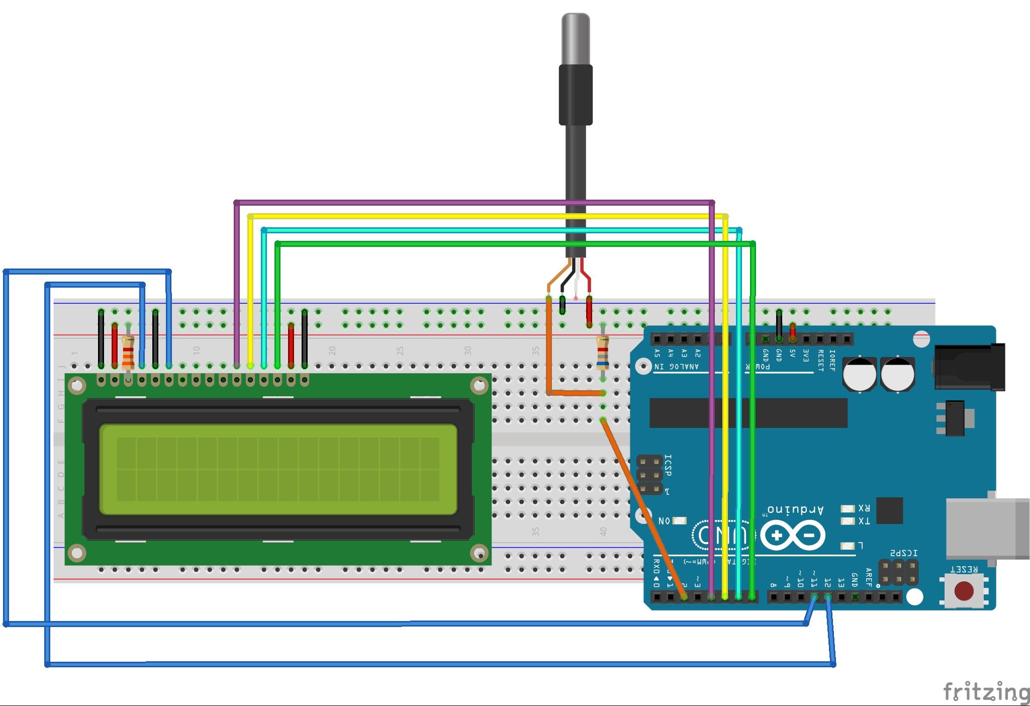 Sensor De Temperatura Con Lcd Arduino Project Hub