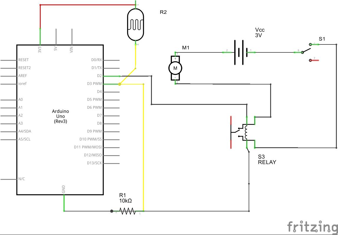 Light controlled launcher schem