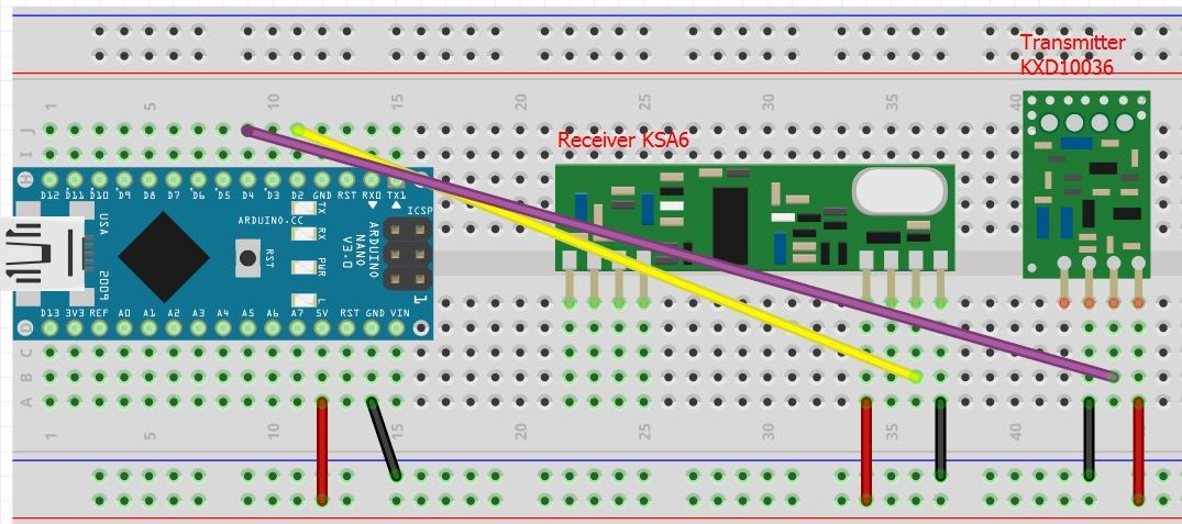 Arduino transmitter and receiver