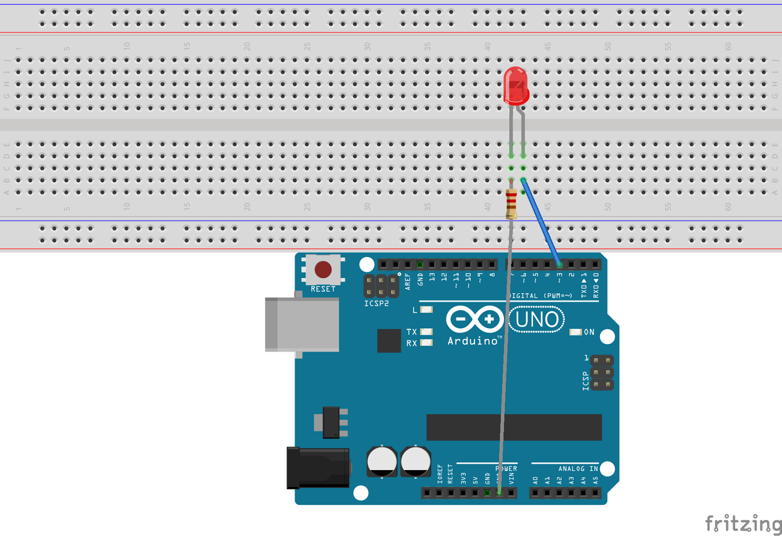Arduino android led