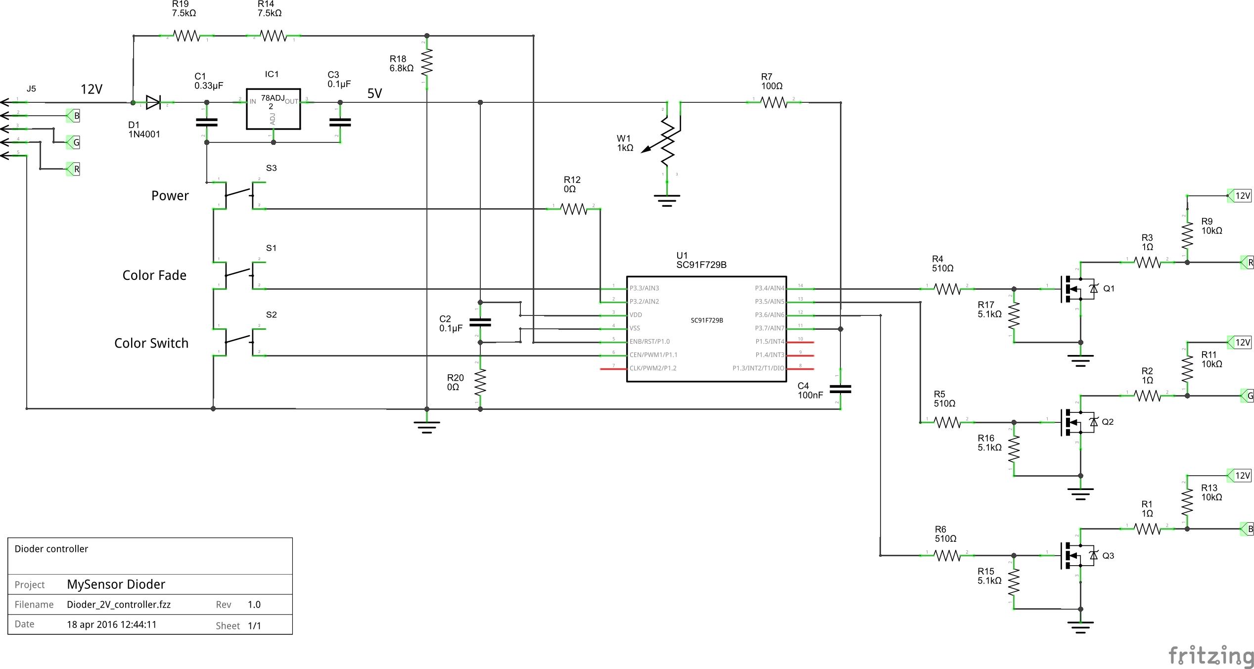 Dioder 2v controller schem