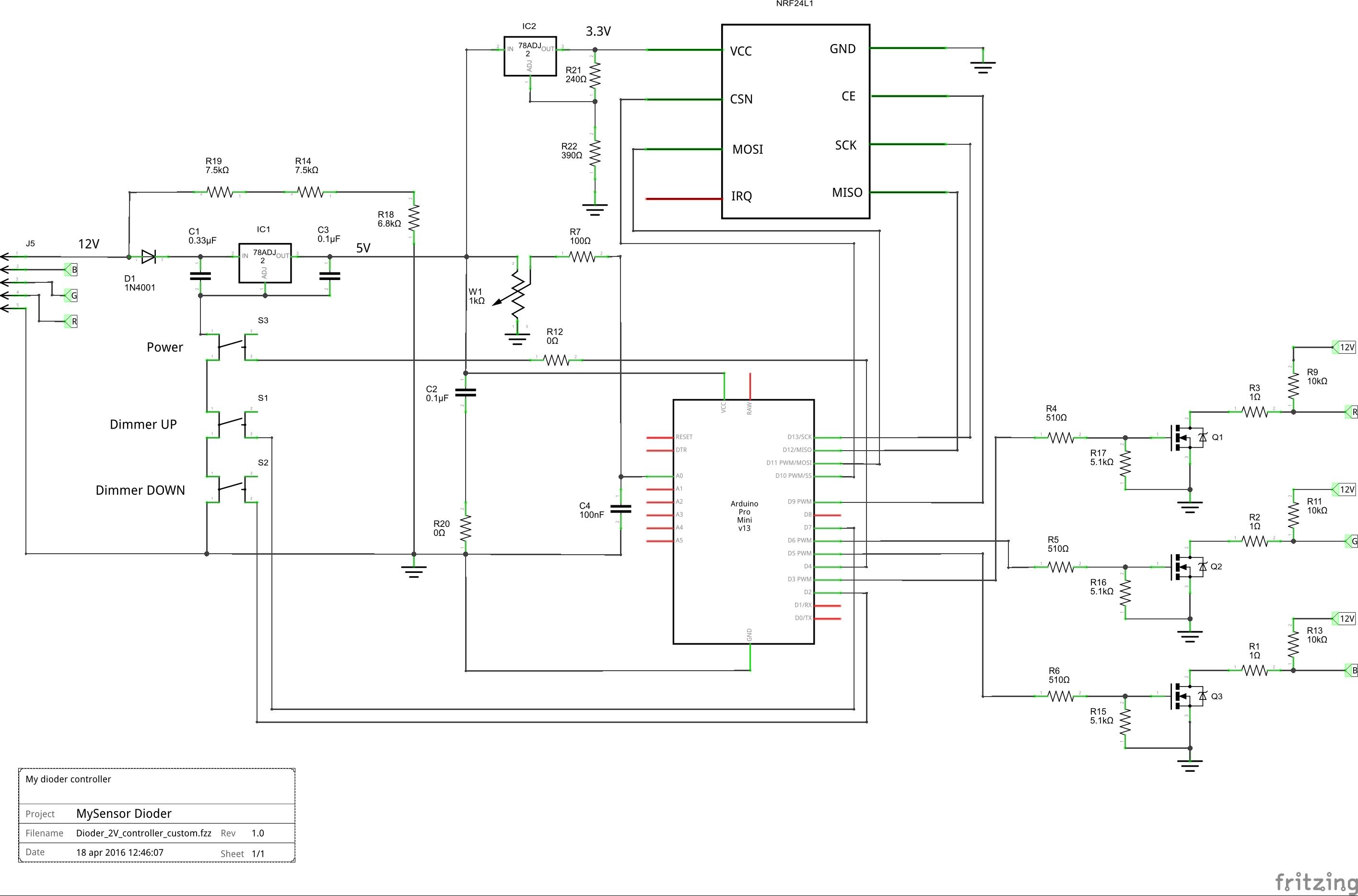 Dioder 2v controller custom schem