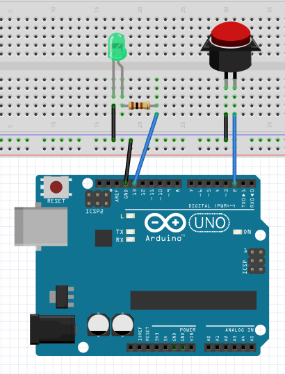 Arduino button with pullup